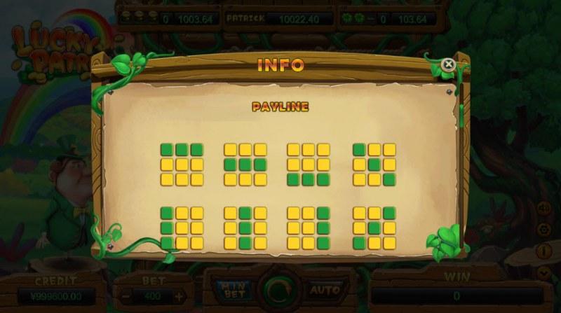 Lucky Patrick :: Paylines 1-8