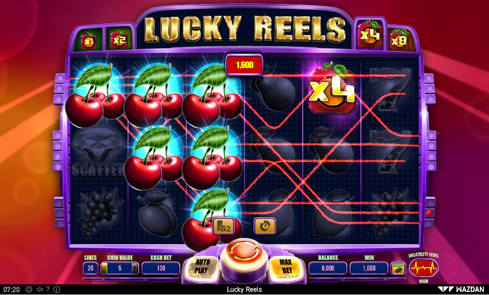 Lucky Reels :: Multiple winning combinations leads to a big win