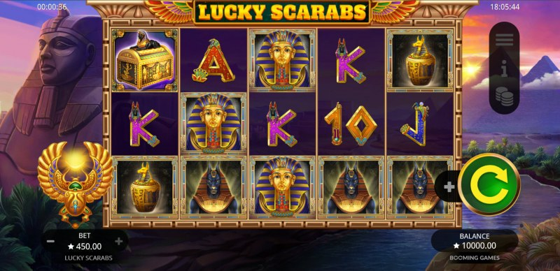 Play slots at Slotman: Slotman featuring the Video Slots Lucky Scarabs with a maximum payout of $50,000