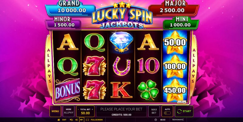 Lucky Spin Jackpots :: Main Game Board