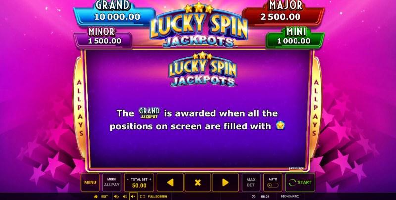 Lucky Spin Jackpots :: Jackpot Rules