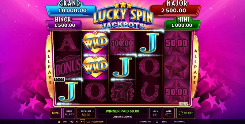 Lucky Spin Jackpots :: Four of a kind