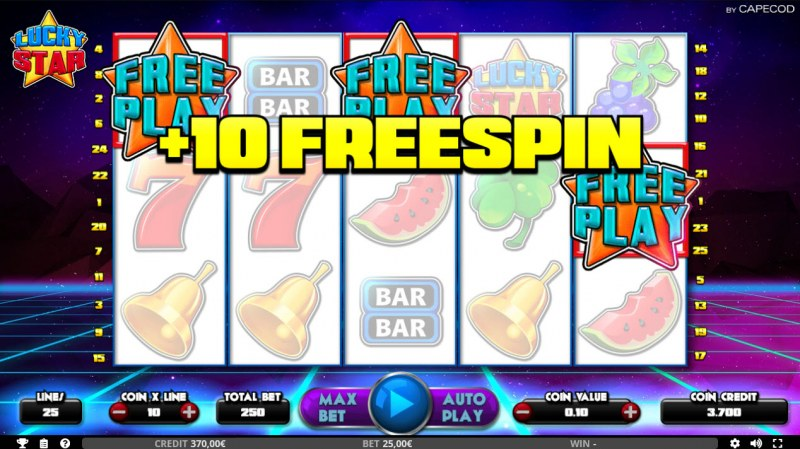 Lucky Star :: 10 Free Spins Awarded
