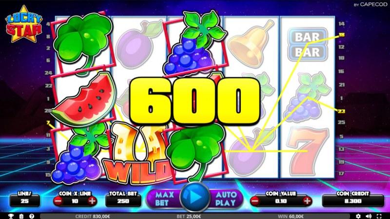 Lucky Star :: Multiple winning paylines