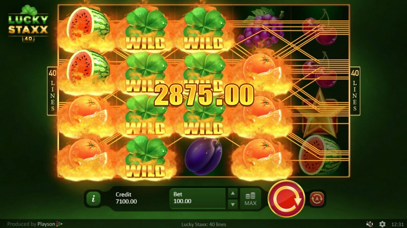 Lucky Staxx 40 Lines :: Multiple winning combinations leads to a big win