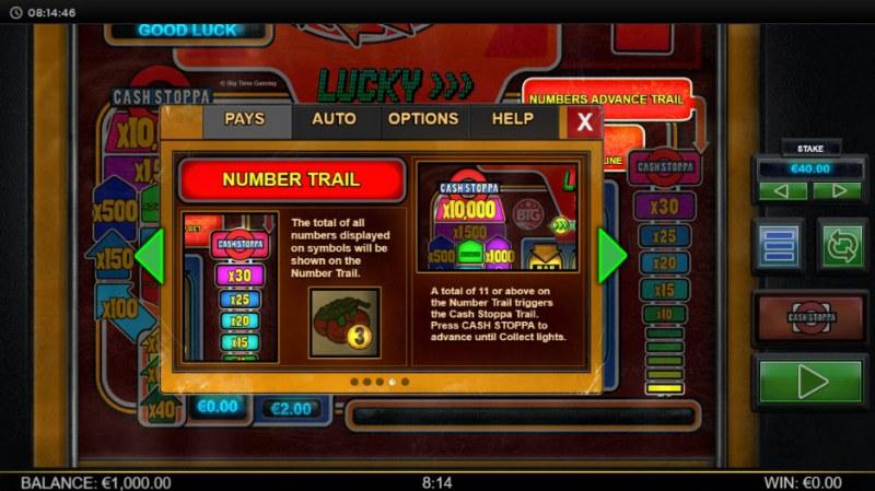 Lucky Streak Mk2 :: Number Trail