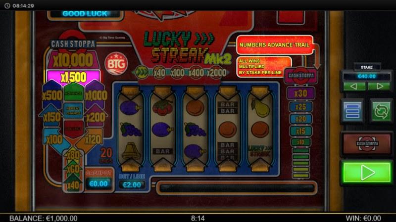 Lucky Streak Mk2 :: Main Game Board