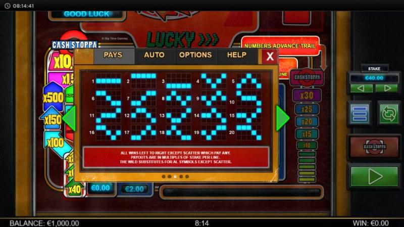 Lucky Streak Mk2 :: Paylines 1-20