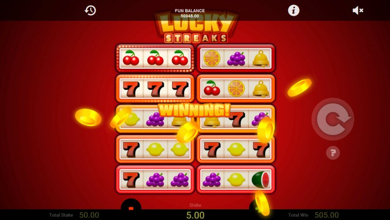 Lucky Streaks :: A trio of lucky red sevens leads to a big win