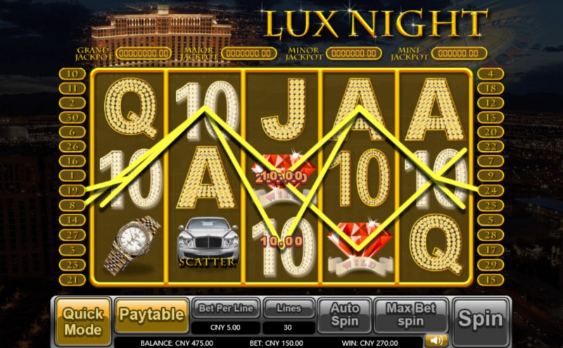 Lux Night :: Multiple winning paylines