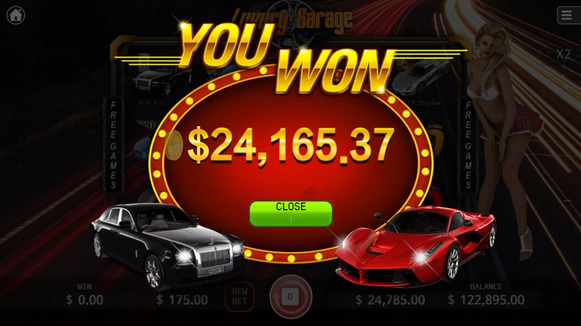 Luxury Garage :: Total free spins payout