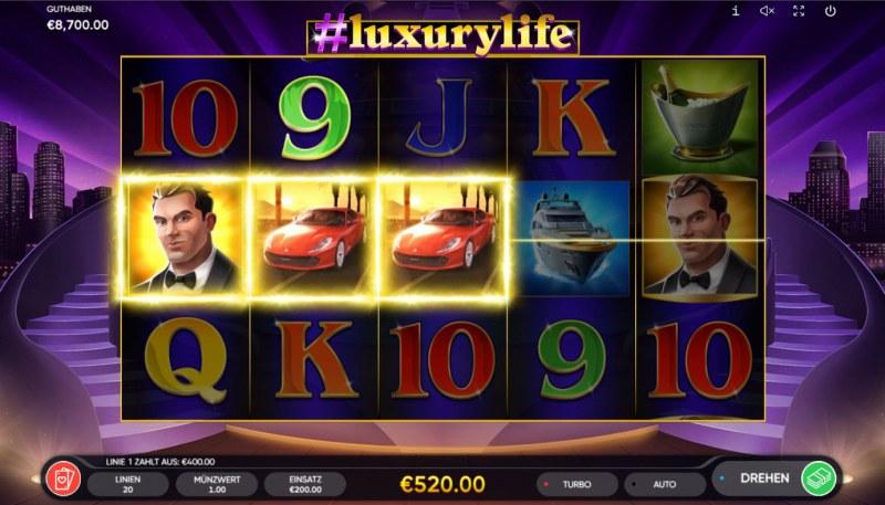#luxurylife :: A three of a kind win