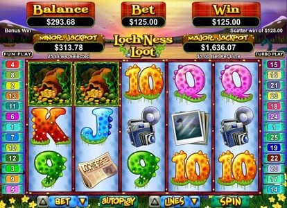Captain Jacks featuring the Video Slots Loch Ness Loot with a maximum payout of $250,000