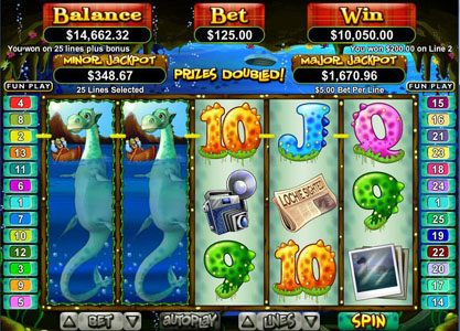 Prism featuring the Video Slots Loch Ness Loot with a maximum payout of $250,000