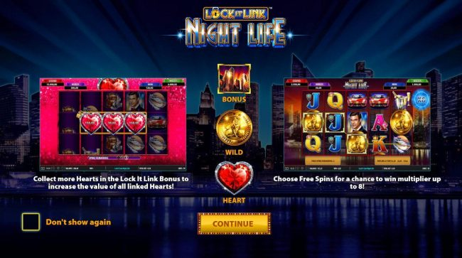 Play slots at Casino Red Kings: Casino Red Kings featuring the Video Slots Lock it Link Night Life with a maximum payout of $250,000