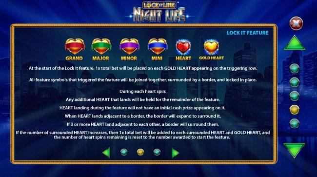 Lock it Link Night Life :: Lock It Feature Rules