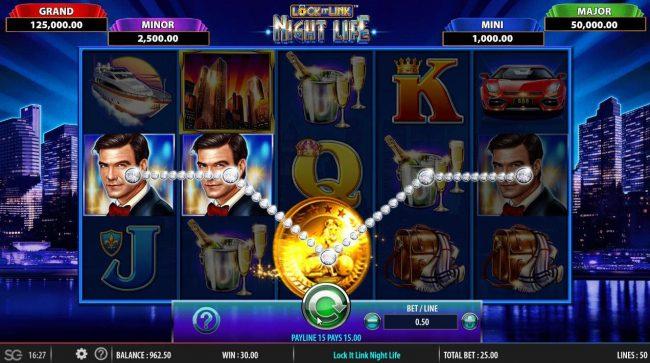 Lock it Link Night Life :: Winning Paylines
