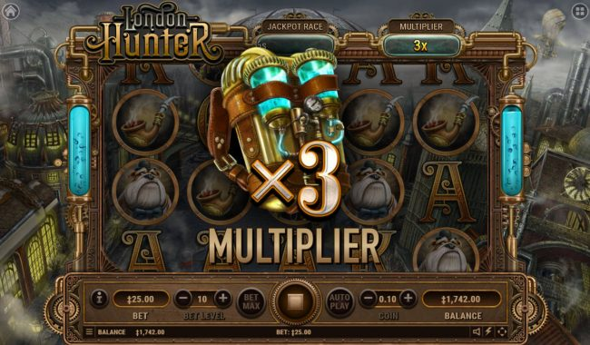 21 Dukes featuring the Video Slots London Hunter with a maximum payout of $80,000