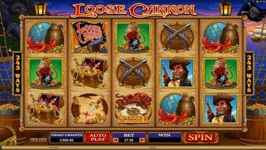 Fortune Room featuring the Video Slots Loose Cannon with a maximum payout of $300,000
