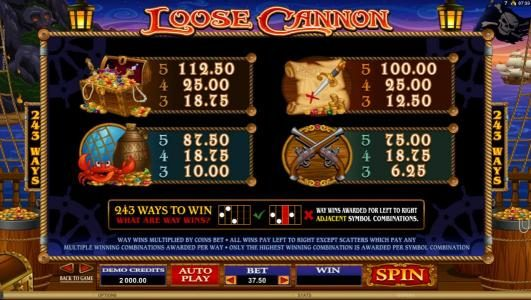 All Irish featuring the Video Slots Loose Cannon with a maximum payout of $300,000