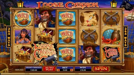 Casumo featuring the Video Slots Loose Cannon with a maximum payout of $300,000