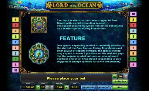 Lord of the Ocean :: game feature rules