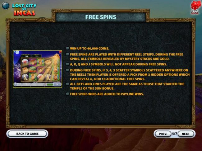Play Hippo featuring the Video Slots Lost City of Incas with a maximum payout of $160,000