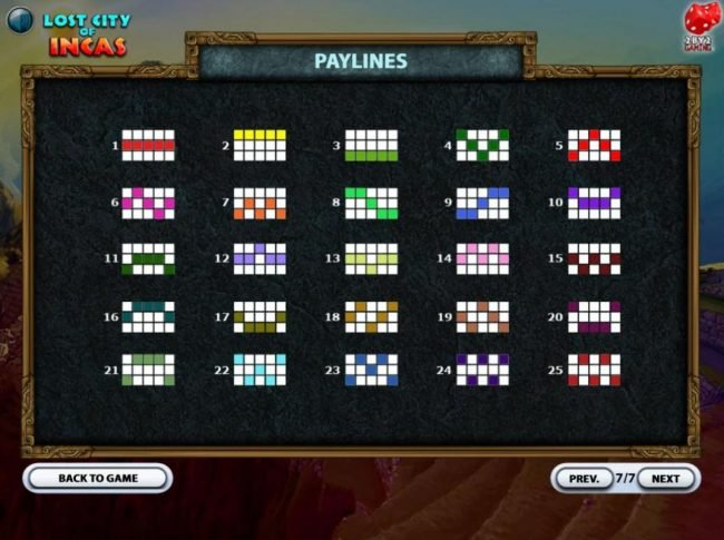 Fruity Casa featuring the Video Slots Lost City of Incas with a maximum payout of $160,000