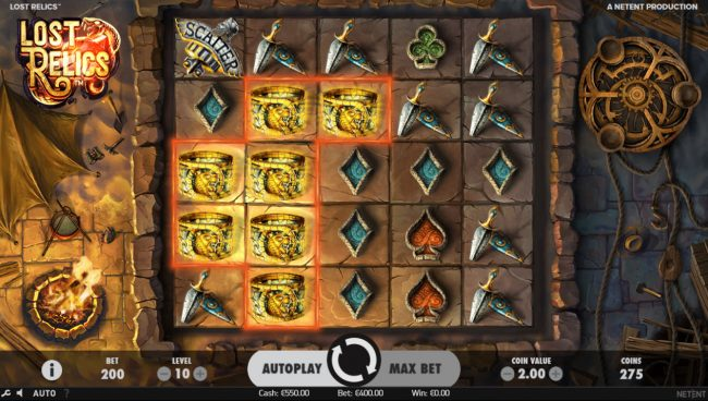 Simba Games featuring the Video Slots Lost Relics with a maximum payout of $60,000