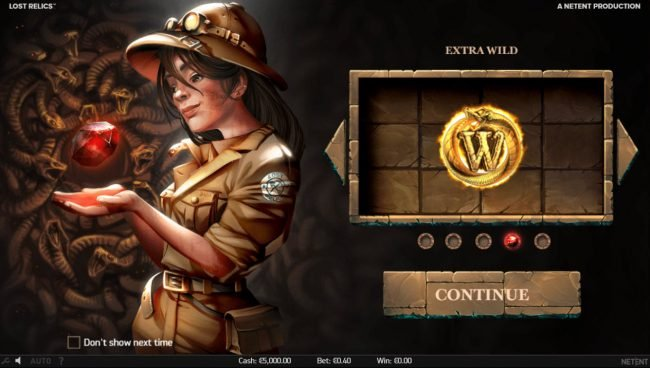 Malina featuring the Video Slots Lost Relics with a maximum payout of $60,000