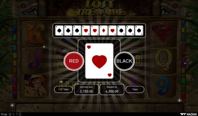 Lost Treasure :: Red or Black Gamble feature