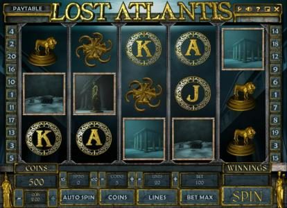 Play slots at Vbet Casino: Vbet Casino featuring the Video Slots Lost Atlantis with a maximum payout of $50,000
