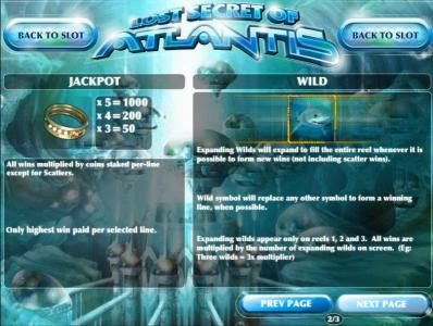 Black Lotus featuring the Video Slots Lost Secret of Atlantis with a maximum payout of $2,500