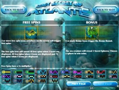 Riviera Play featuring the Video Slots Lost Secret of Atlantis with a maximum payout of $2,500