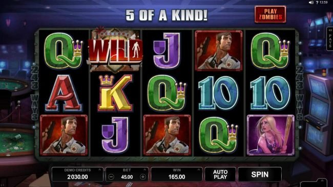 Zodiac featuring the Video Slots Lost Vegas with a maximum payout of $97,000