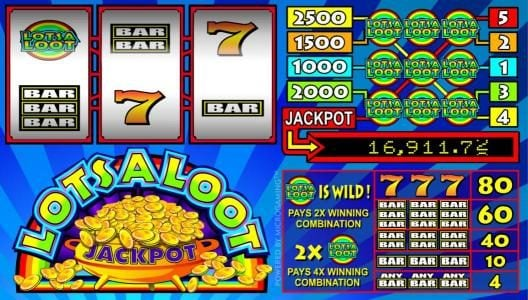 Play slots at Watch my Spin: Watch my Spin featuring the Video Slots LotsaLoot 3 Reel with a maximum payout of Jackpot
