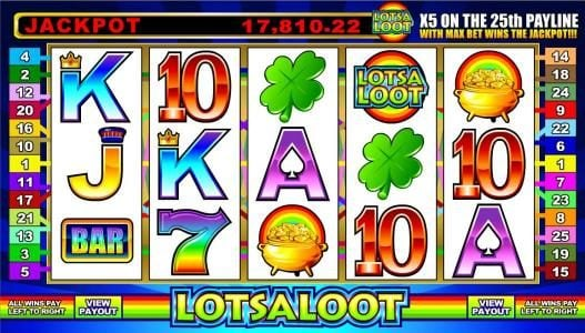 Play slots at Quatro: Quatro featuring the Video Slots LotsaLoot 5 Reel with a maximum payout of Jackpot