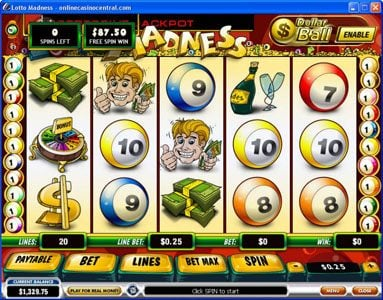 Euro Grand featuring the Video Slots Lotto Madness with a maximum payout of $100,000