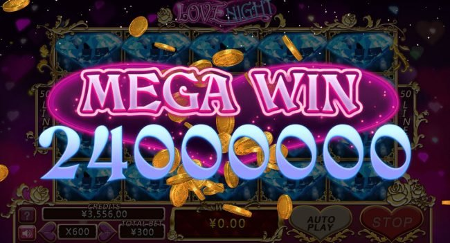 Cyber Spins featuring the Video Slots Love Night with a maximum payout of $1,000,000