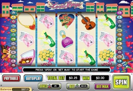 Miami Club featuring the Video Slots Love Bugs with a maximum payout of $50,000