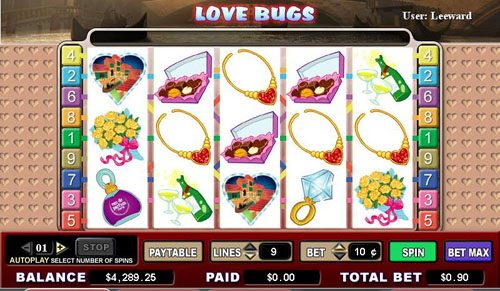 Casimba featuring the video-Slots Love Bugs with a maximum payout of 5,000x