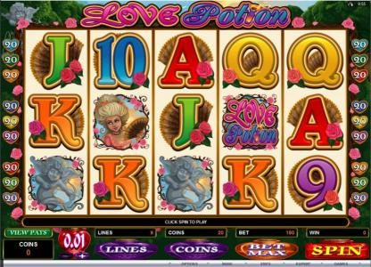 Play slots at Norskespill: Norskespill featuring the Video Slots Love Potion with a maximum payout of $12,500