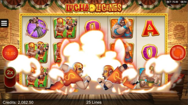 21 Jackpots featuring the Video Slots Lucha Legends with a maximum payout of $165,000