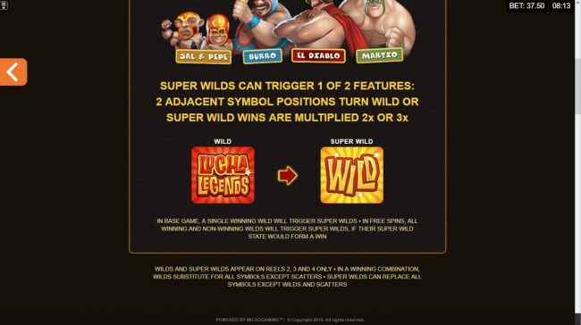 Golden Boys Bet featuring the Video Slots Lucha Legends with a maximum payout of $165,000