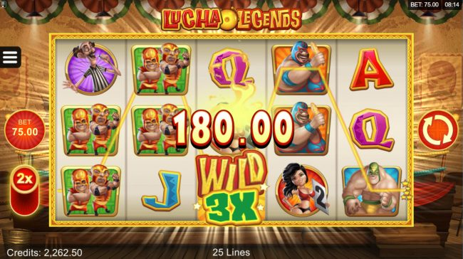 Fun Casino featuring the Video Slots Lucha Legends with a maximum payout of $165,000