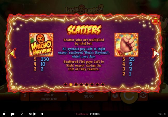 Lucha Libre 2 :: Scatter Symbol Rules