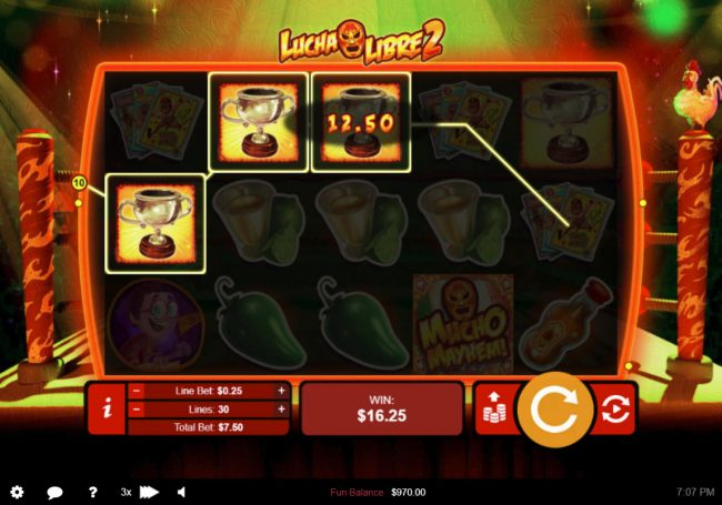 Prism featuring the Video Slots Lucha Libre 2 with a maximum payout of $50,000
