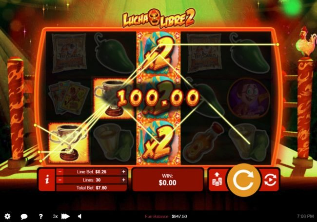 Play slots at Cherry Jackpot: Cherry Jackpot featuring the Video Slots Lucha Libre 2 with a maximum payout of $50,000