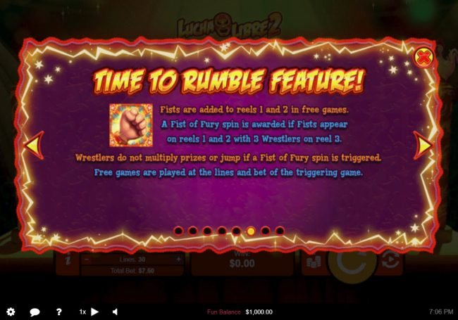 ReelSpin featuring the Video Slots Lucha Libre 2 with a maximum payout of $50,000