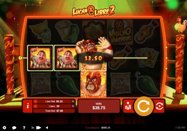 iNET Bet featuring the Video Slots Lucha Libre 2 with a maximum payout of $50,000